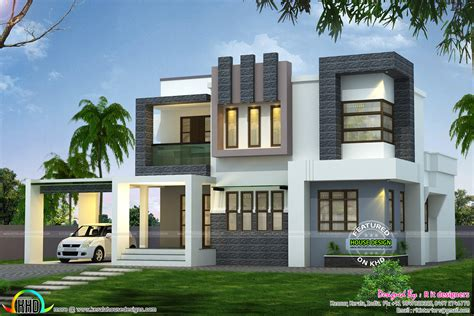 1938 Sqft Modern Contemporary House  Kerala Home Design