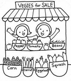 market coloring pages - 1000 images about farmer 39 s market on pinterest farmers