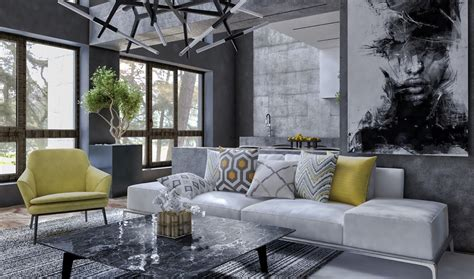 charming house design  luxurious gray features