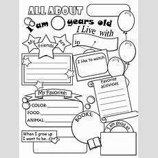 All About Me Worksheetthis Would Be Cute For A Time Cap  For Me  All About Me Worksheet