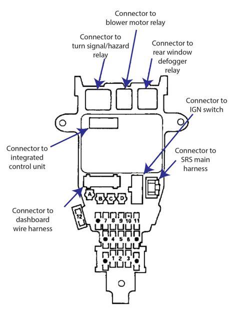 97 Honda Accord Fuse Box Diagram by 1997 Honda Fuse Box Wiring Diagram