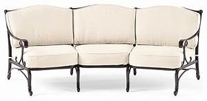 Orleans curved sofa cover sand traditional outdoor for Outdoor furniture covers for curved sofa