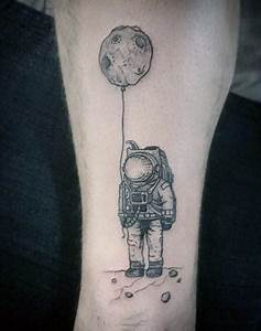 100 Astronaut Tattoo Designs For Men - Spaceflight Ideas