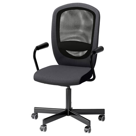 flintan nominell swivel chair with armrests grey ikea
