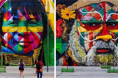 brazilian graffiti artist   worlds largest mural