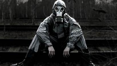Gas Apocalyptic Masks Mask Person Background Wallpapers