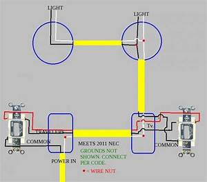 3-way  2 Lights  Dimmer