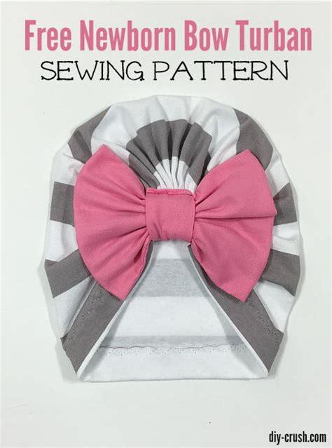 baby bow turban beanie pattern favecraftscom