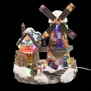 Moulin A Vent Enfant : moulin vent illumin enfant joyeux village de noel eminza ~ Melissatoandfro.com Idées de Décoration