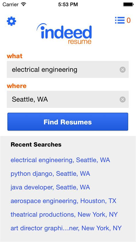Indeed Resume To Phone by Indeed Resume Search Apps 148apps