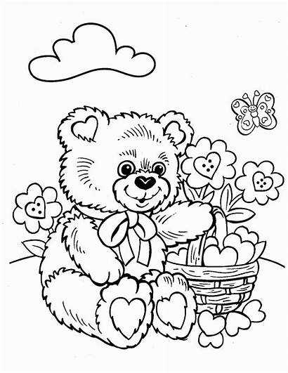 Crayola Coloring Pages Printable Bear Adult Teddy