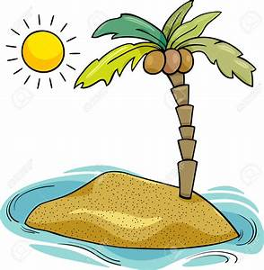 small remote island with palm tree clipart id-14098 ...