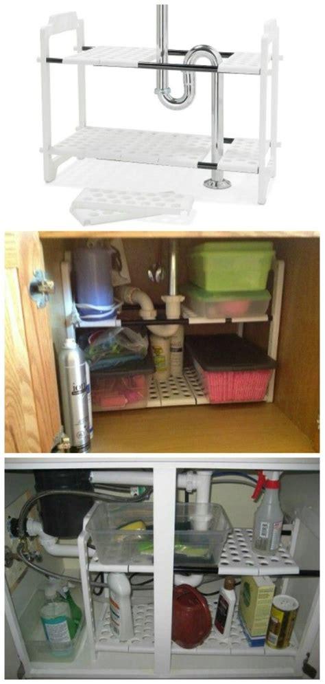 sink kitchen storage solutions 30 brilliant bathroom organization and storage diy 8705