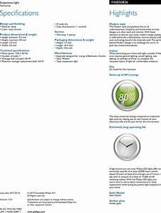 Philips Fa005  08  36 Fa0050836 Suspension Light User Manual