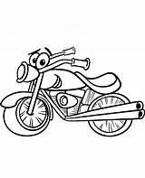 Coloring Motorbike Colouring Motor Motorbikes Motorcycle Printable Cartoon Topcoloringpages Funny Bikes Getcolorings sketch template