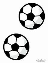 Soccer Ball Coloring Printables Pages Print Fun Medium sketch template