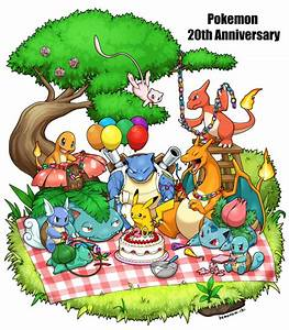 Pokemon 20th Anniversary by kemonomichi on DeviantArt