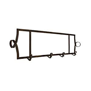 amazoncom horizontal metal wall mount  plate rack home kitchen