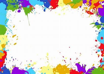 Colorful Frame Splatter Transparent Onlygfx Px 2143