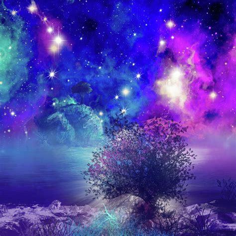 Galaxy Landscape 2 Digital Art By Bekim M