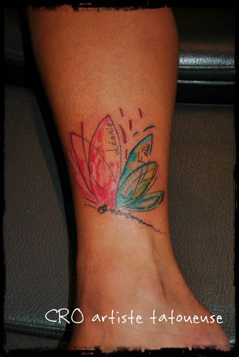 papillons  libellules cro artiste tatoueuse
