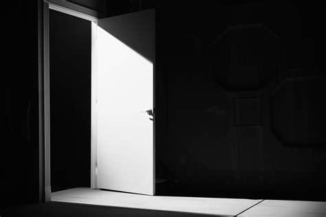Interesting 20+ Open Door Dark Room Inspiration Of Door