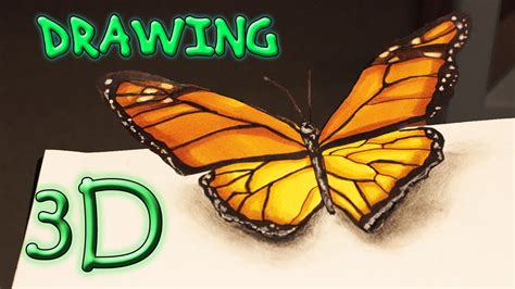 3d schmetterling 3d butterfly speed drawing illusion schmetterling zeichnen