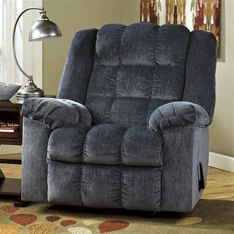 ludden blue rocker recliner  power recliners