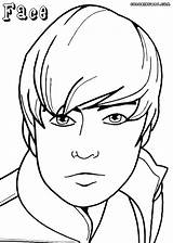 Face Coloring Pages Colouring Boy Colorings Print sketch template