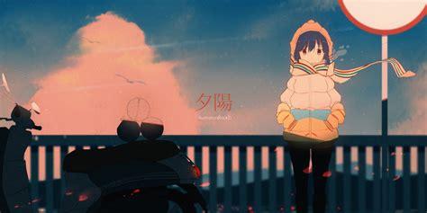 wallpaper yuru camp anime girls rin shima