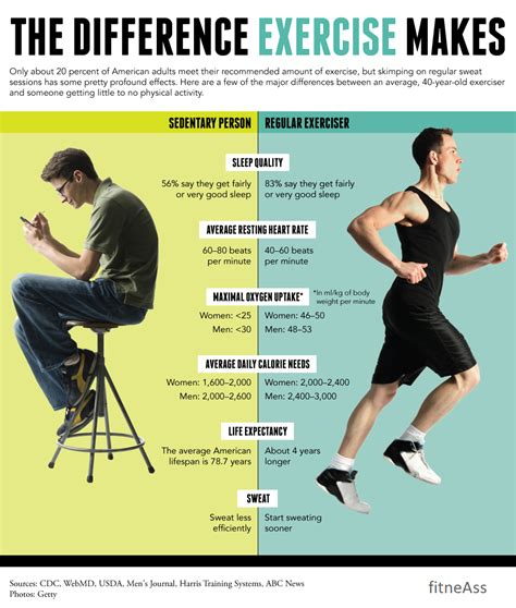 exercise regular person changes everything fitnish sedentary exerciser versus