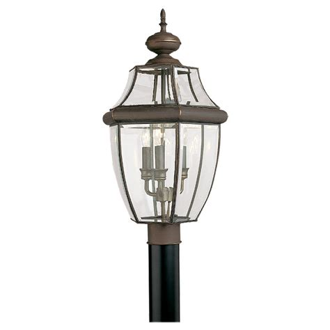 l post light fixtures shop sea gull lighting 3 light lancaster outdoor post