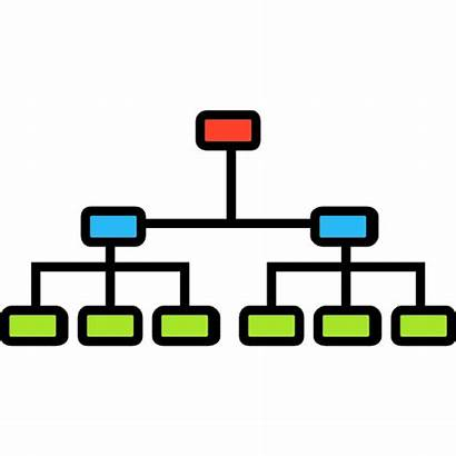Hierarchy Structure Organization Hierarchical Clipart Icon Organizational