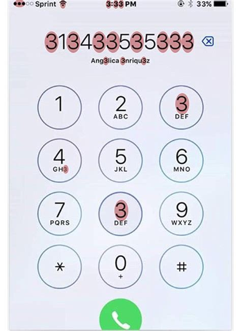 how do you contact by phone iphone screen covered in a number of 3s is driving the
