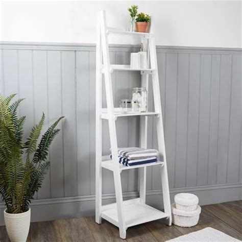 ladder shelf white nautical wooden ladder shelves white dunelm