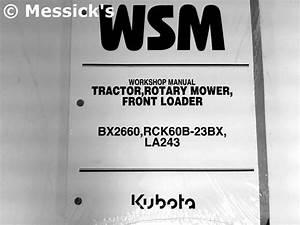 Kubota  Bx2660 Shop Manual  Part   9y121