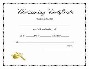 free baptism certificate template template update234com With baby christening certificate template