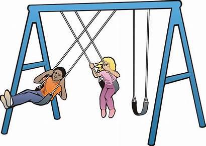 Swing Clipart Swings Cartoon Clip Cliparts Swinging