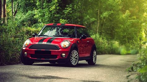 7 Car Wallpaper by Car Mini Cooper Stripes Road Nature Forest