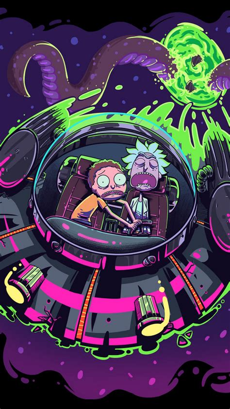 wallpaper rick  morty iphone background