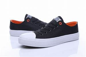 2017 Newest CONVERSE ALL STAR II Serpentine Black Orange ...