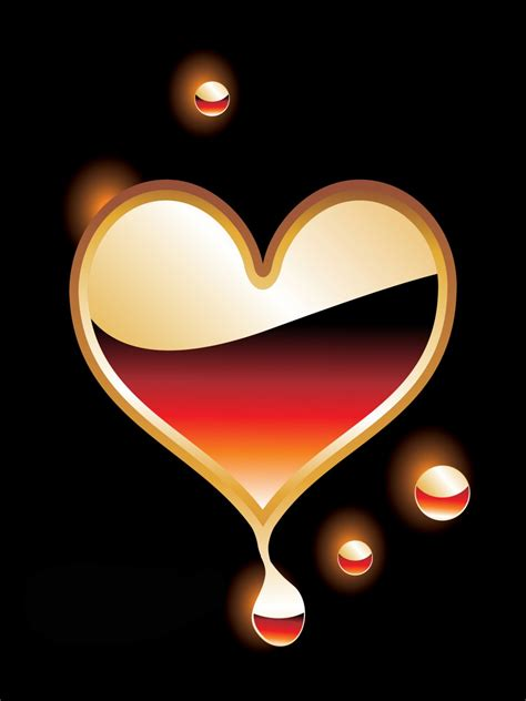 Hearts With Black Background Wallpapersafari