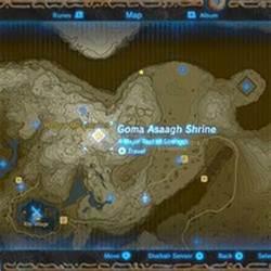 zelda breath   wild guide goma asaagh shrine