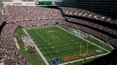soldier field seating chart pictures directions  history chicago bears espn