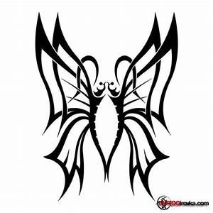 45+ Tribal Butterfly Tattoo Designs