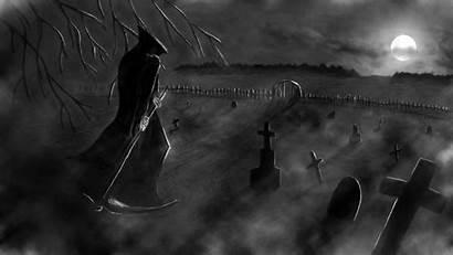 Graveyard Dark Wallpapers Reaper Grim Background Death
