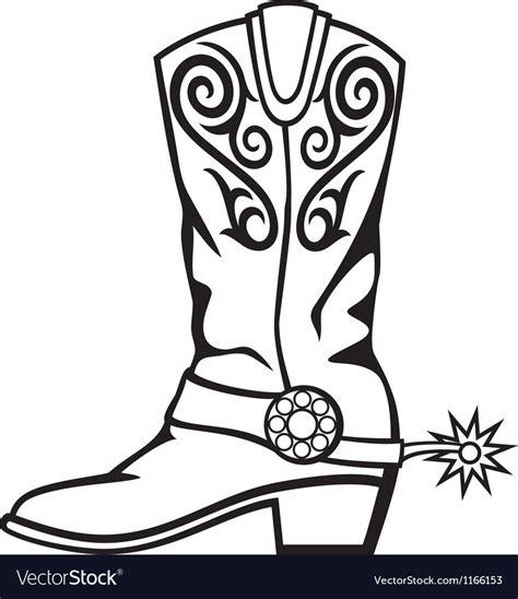 cowboy boot royalty  vector image vectorstock