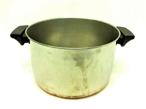 vintage  revere ware  quart  rome ny copper bottom stock pot cookware ebay