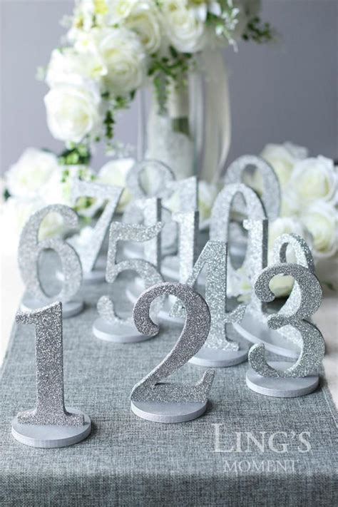 table numbers   set glitter wedding table numbers gold