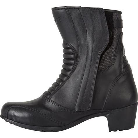 waterproof leather motorcycle boots spada steel ladies motorbike waterproof womens leather